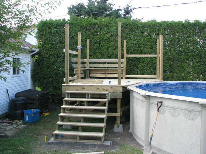 exemple de deck piscine On plan deck de piscine